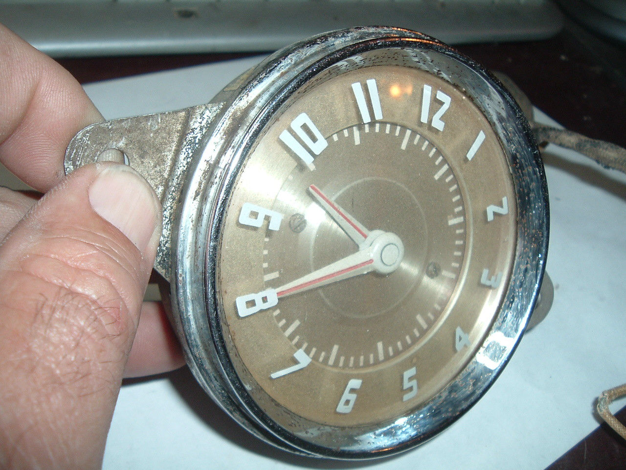 1942 43 44 45 46 48 pontiac dash clock electric (z 42-48 pontiac clock )