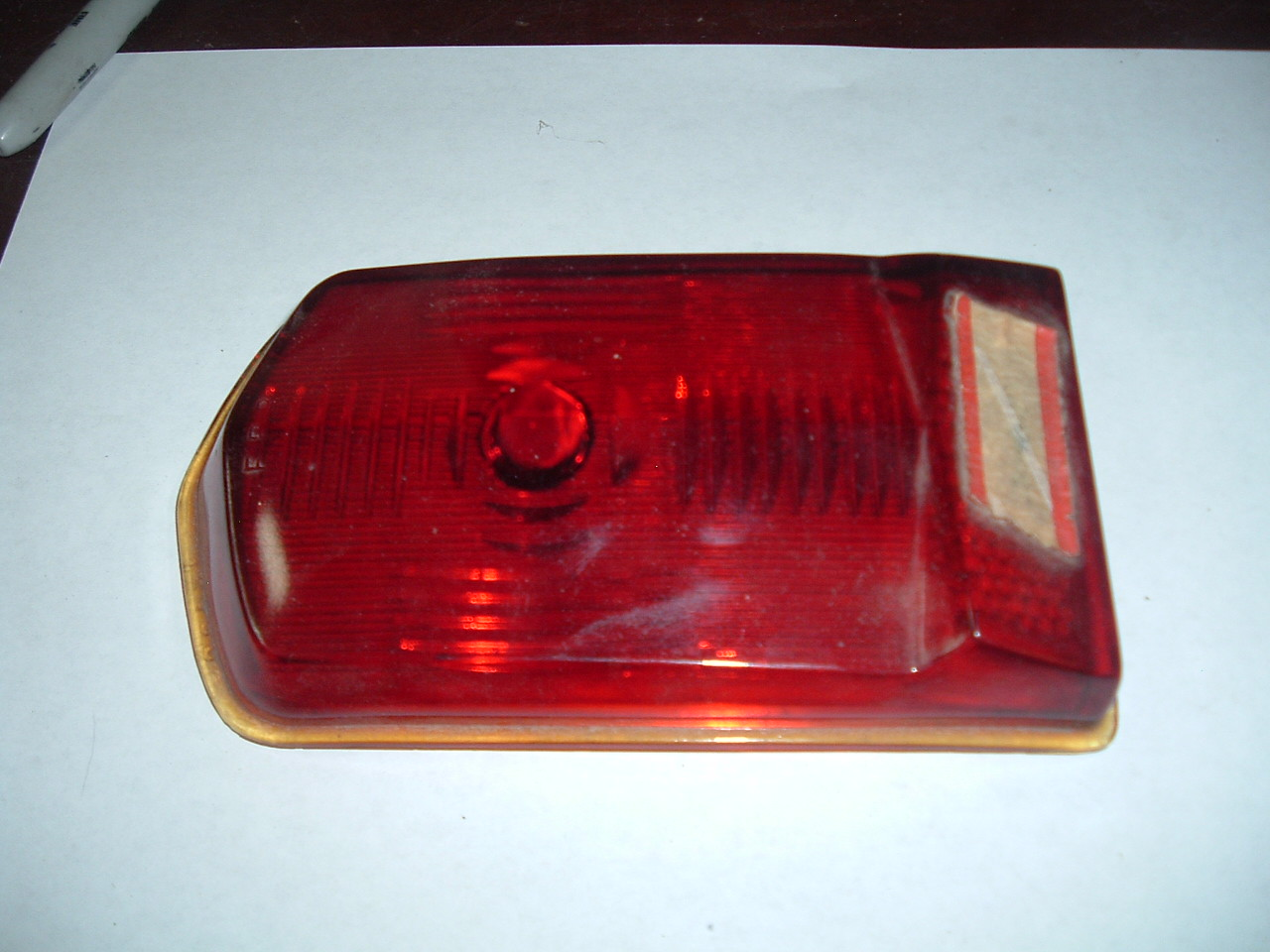 1949 1950 Fraizer Manhattan rear taillight lens new glass (z 4950Manhattan)