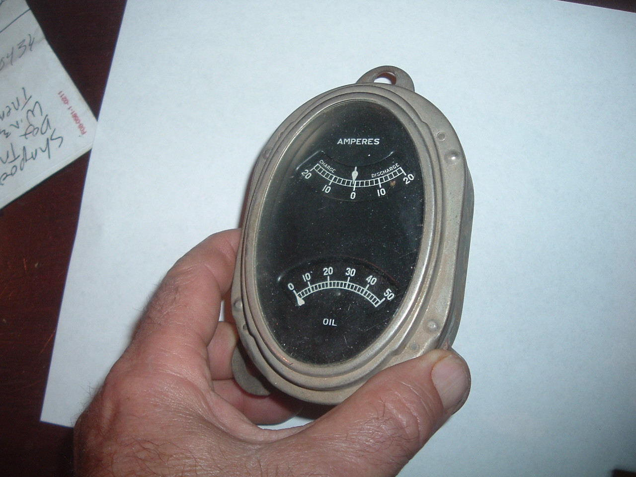 1926 1927 1928 Packard ammeter oil gauge assembly original (z 27packardgauge)
