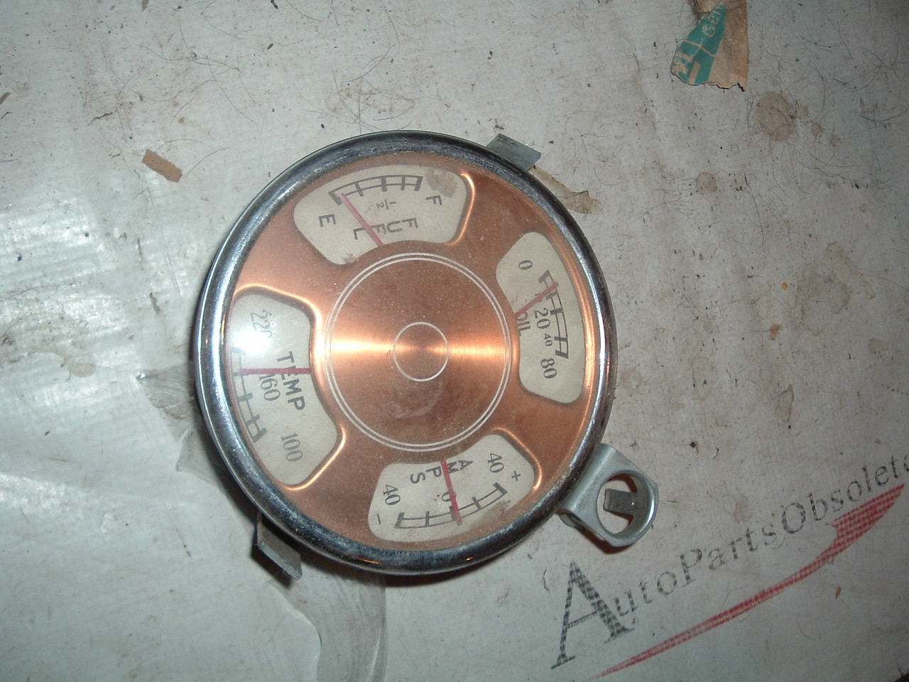 19505 1 52 53 checker cab gauge dash cluster nos stewart warner (z 50-3 checkergauges)