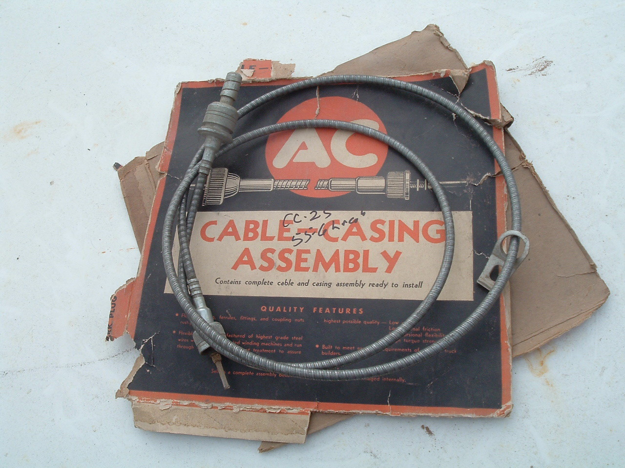 1955 1956 lincol speedometer cable CC-25 (z cc-25)
