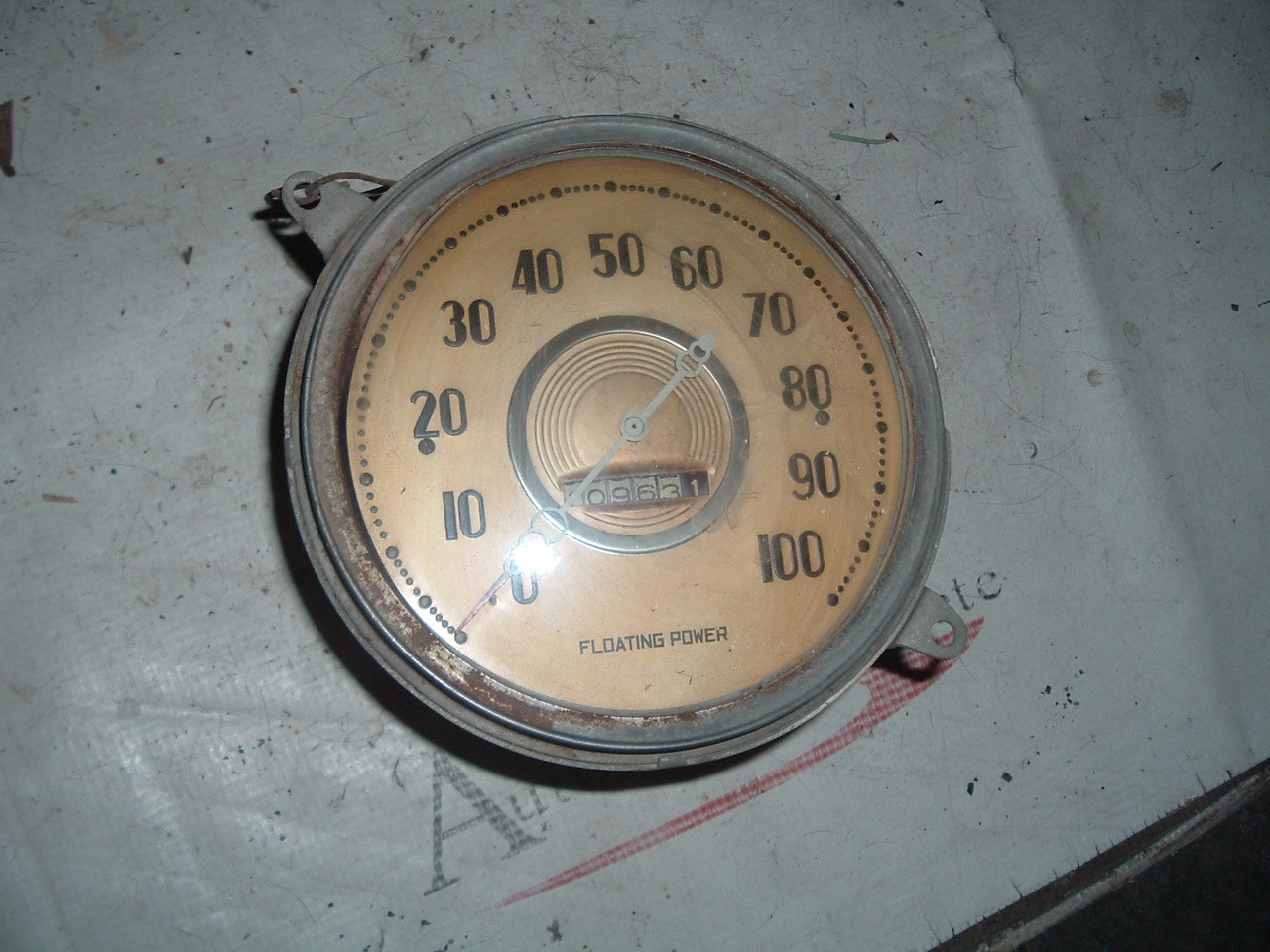 1938 dodge speedometer assembly original (z 38dodgespeedo)