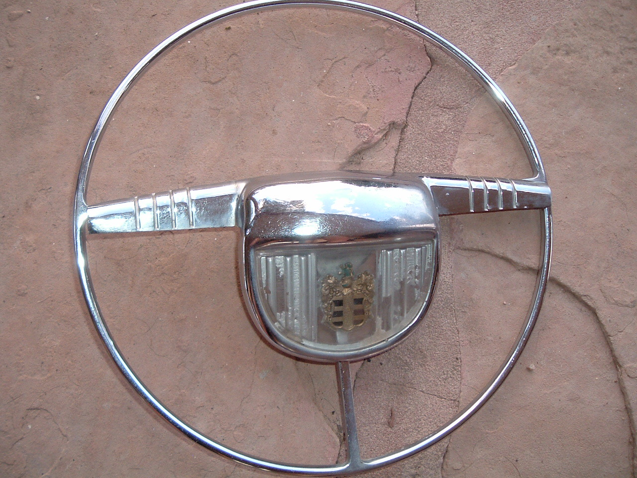 View Product1946 47 48 dodge steering wheel horn ring original (z 46-8 dodge horn ring)