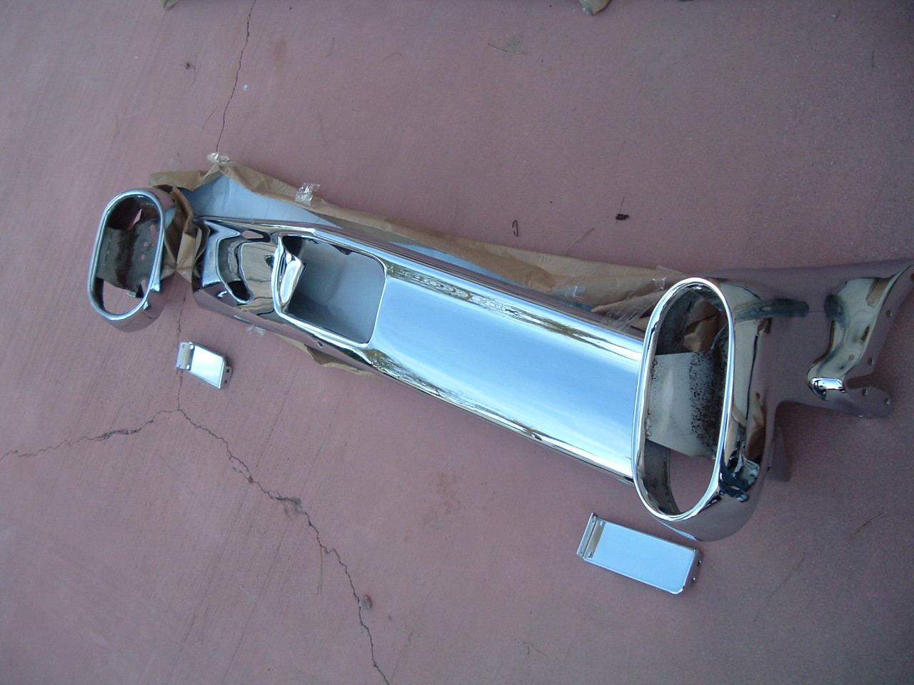 1960 cadillac rechromed rear bumper (z 1960 cad rear bumper)