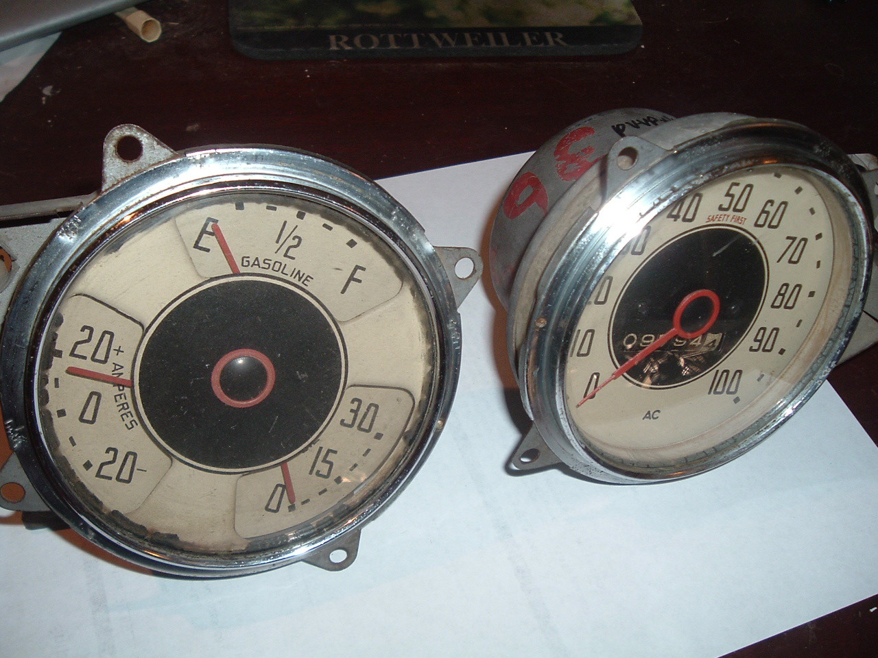 View Product1936 chevrolet standard gauge dash cluster and speedometer super 8 (z 36chevgauge)