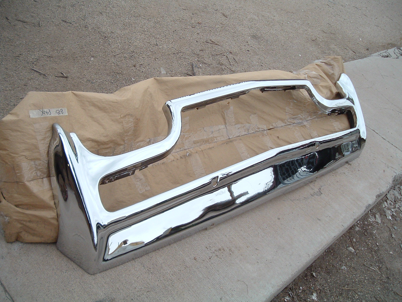 1961 62 63 ford thunderbird rechromed front bumper (z 61-3birdbump)