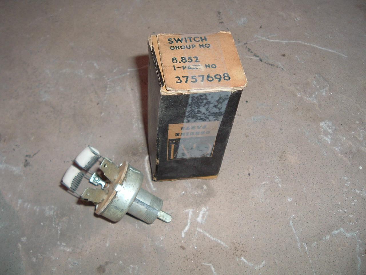1955 56 57 58 59 chevrolet truck pickup passenger heater fan blower switch # 3757698 (z 3757698)