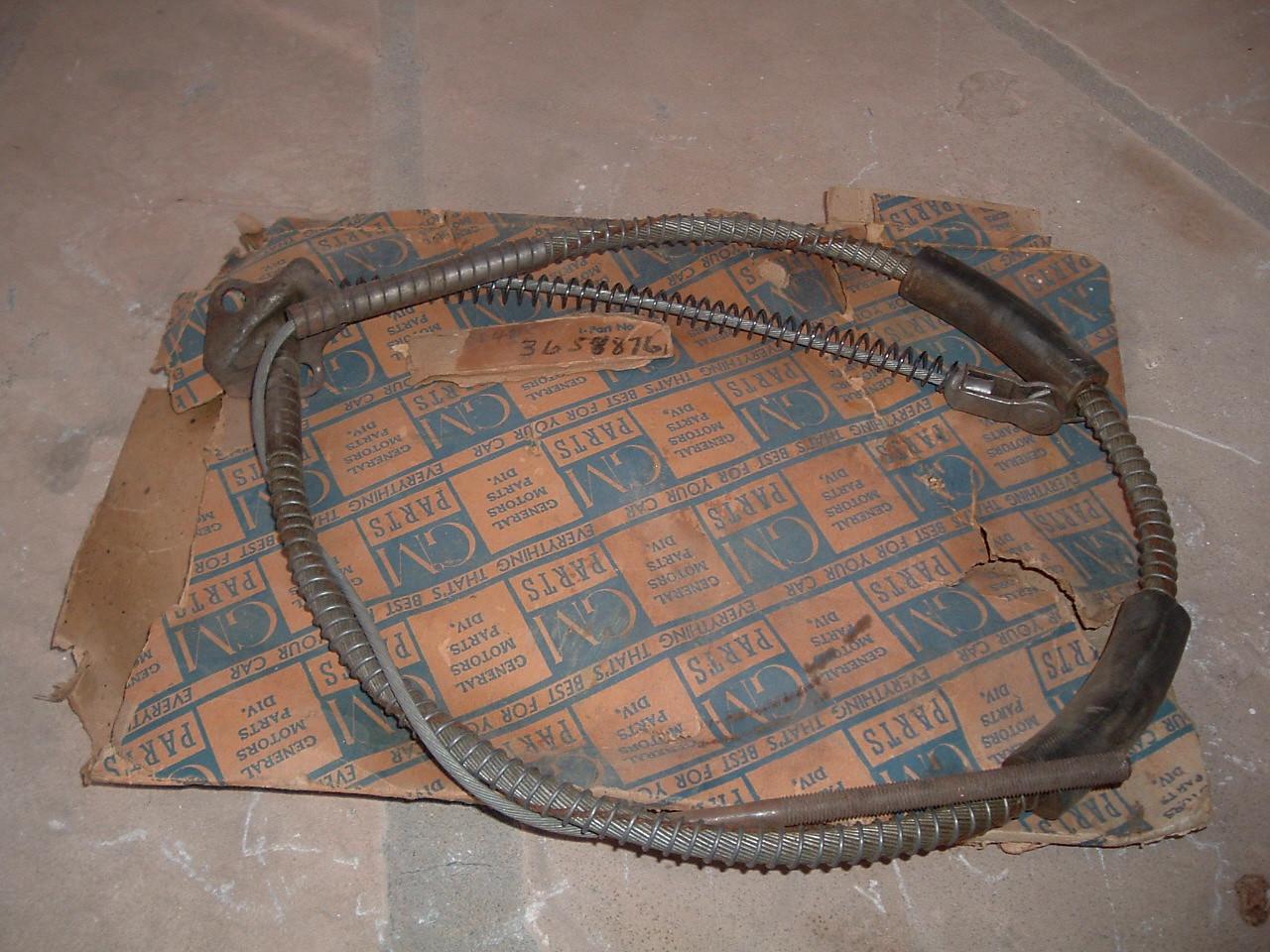 1937 38 39 40 41 42 chevrolet parking brake cable nos gm 3658405 (z 3658405)