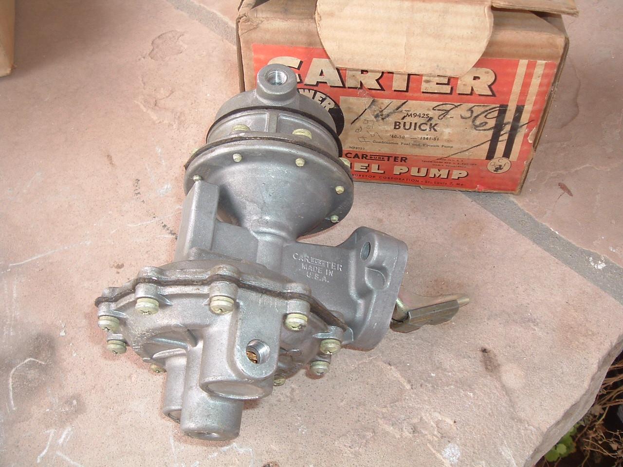 1940 -51 Buick fuel pump dual action carter new M9425 (z m9425)