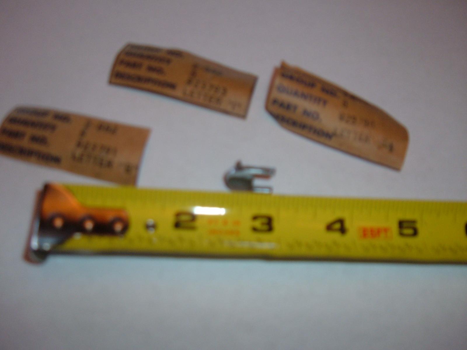 View Product1942 46 47 48 buick trunk deck lid emblem letters nos gm letter C (z 42-48buickC)