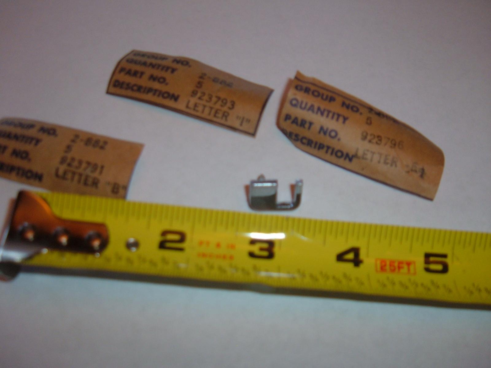View Product1939 1940 buick trunk deck lid emblem letters nos gm letter T (z 39-40buickK)