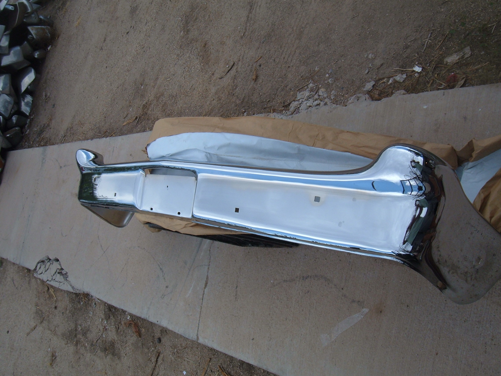 1960 ford rechromed front bumper galaxie (z 60 ford front bumper )