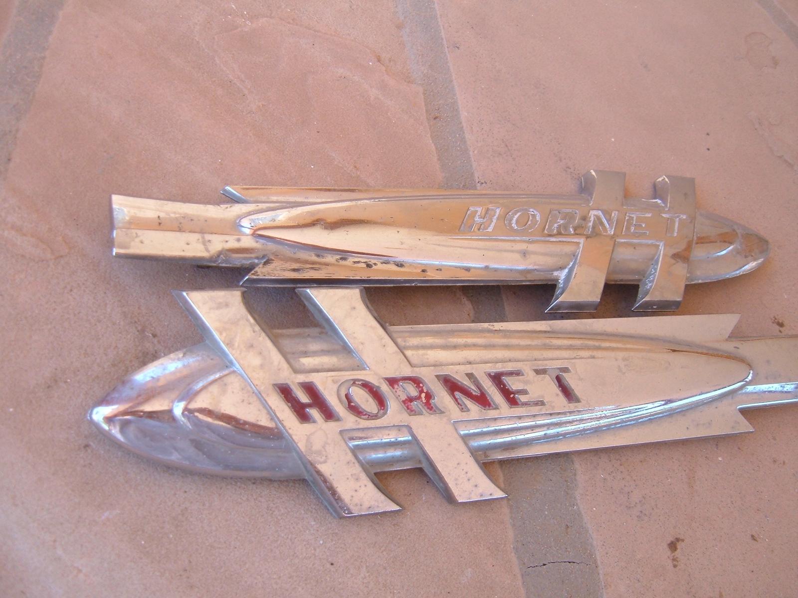 View Product1951 52 53 husdon hornet fender emblems 1pr original (z hornetemblems)