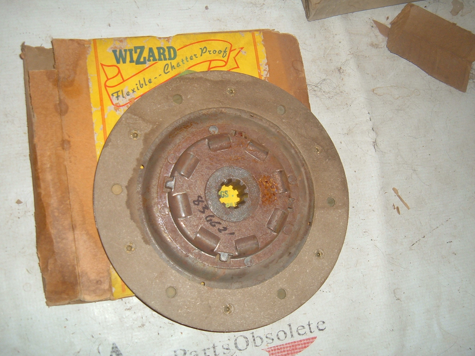 1932 33 34 chevrolet pass clutch disc 9 inch 836621 (z 836621)