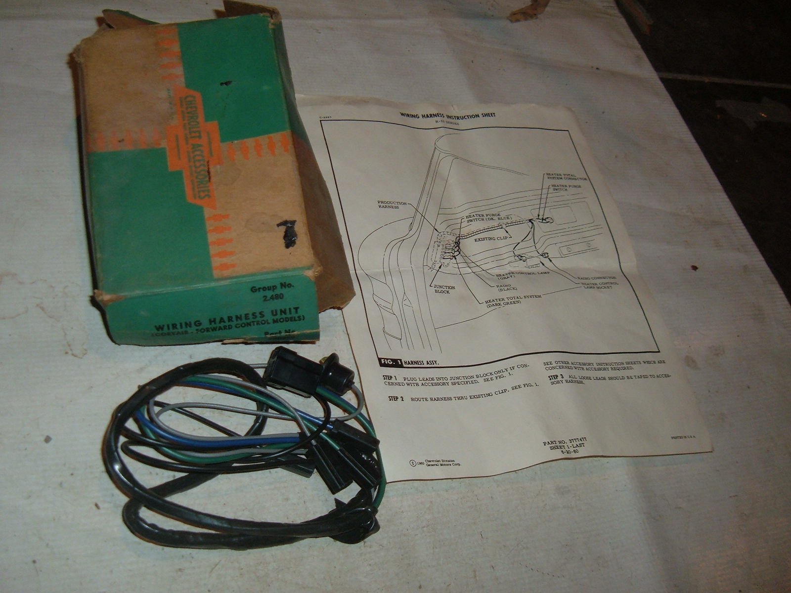 1961 62 63 64 65 Corvair Foreward Control Wiring Harness Nos Gm 988350 Installation Clips View Product1961 Z