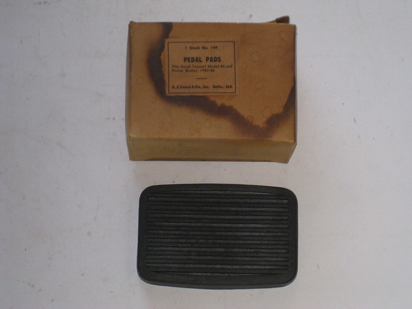 1953 1954 1955 Buick new replacement rubber pedal pad # pp149
