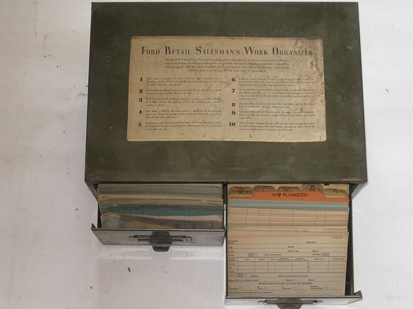 1930's Ford retail salesman work organizer card file cabinet #30frswo (zd 30frswo)