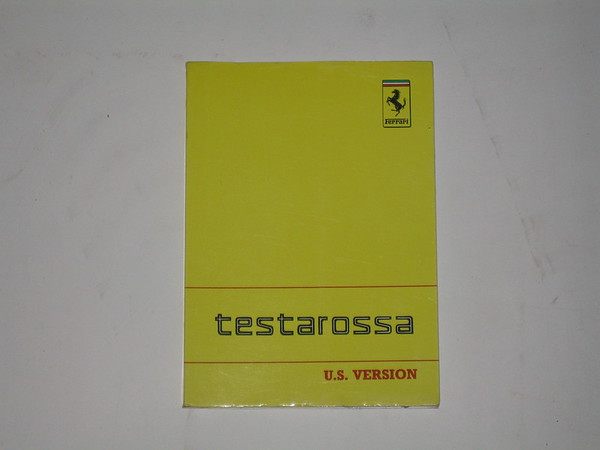 1989 Ferrari Testa Rosa USA version used owners manual # 95990105u (zd 95990105u)