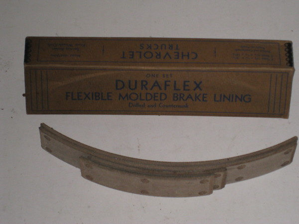 1933 Chevrolet new front brake lining set # bl19