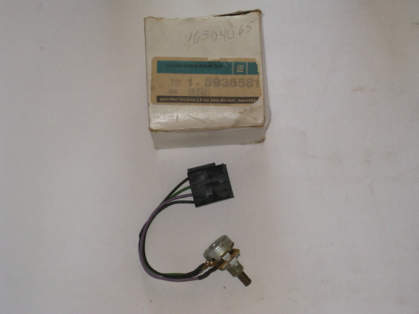 1982 thru 1992 Cadillac NOS twilight sentinel potentiometer switch # 5936581