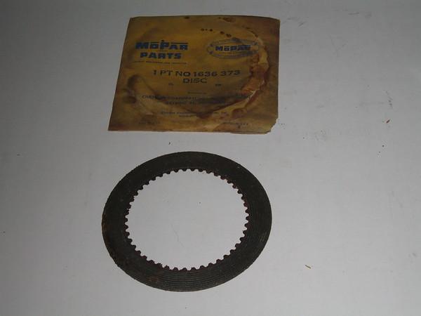 1957 1958 1959 1960 1961 Mopar NOS automatic 3 speed trans front clutch drive disc# 1636373 (zd 1636373)
