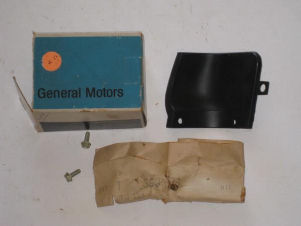 1968 Cadillac Eldorado NOS RH front header extension upper molding # 3633136