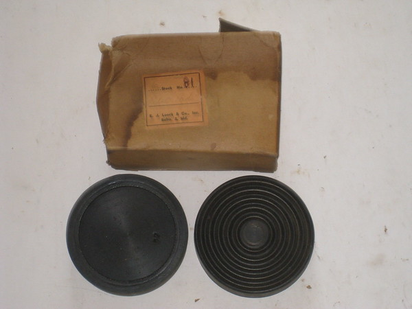 1933 thru 1953 Ford Lincoln Mercury new rubber pedal pads # f5256 (zd f5256)