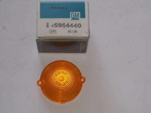 1963 1964 1965 1966 1967 Chevrolet Corvette NOS front park lamp light lens # 5954440 (zd 5954440)