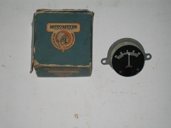 Antique NOS Motometer amp gauge 1919 to ? (zd mm2870)