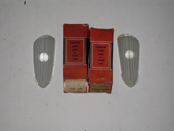 1949 Ford car new parklamp lenses # 8a-13208, 8a013209 (zd 8a-13208,8a-13209)