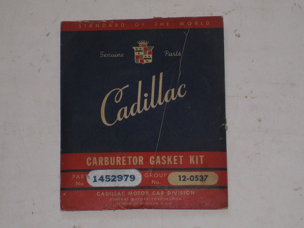 1936 1937 1938 Cadillac NOS carburetor gasket kit #1452979 (zd 1452979)