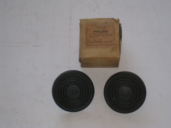 1934 thru 1955 Studebaker new replacement rubber pedal pads # pp202