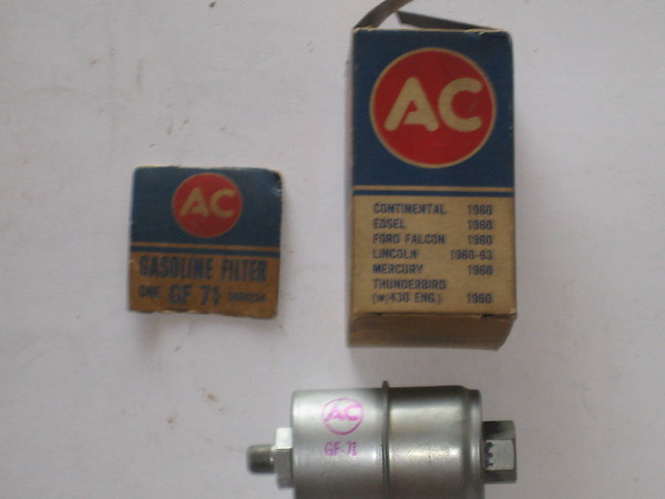 1960 1961 1962 1963 Lincoln Edsel Ford Mercury NOS AC fuel filter # gf71 5650224