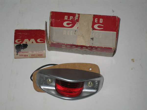 1955 thru 1967 GMC NOS rear side marker light # 2233484 (zd 2233484)