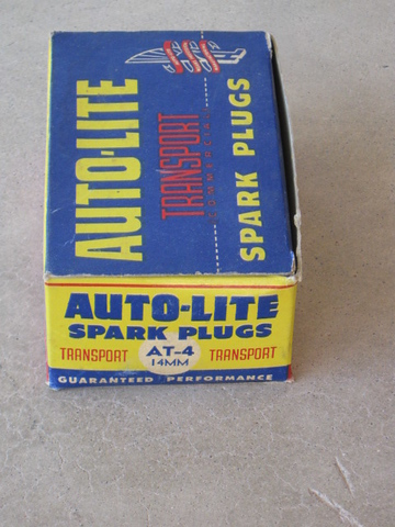 1933-1948 Indian Motorcycle NEW AT4 autolite spark plugs-10 pieces (zd AT4)