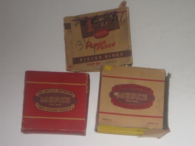1942 1946 1947 1978 1979 1950 1951 1952 1953 1954 Dhrysler DeSoto NOS ring set .030 os mopar # 986451 (zd 986451r)