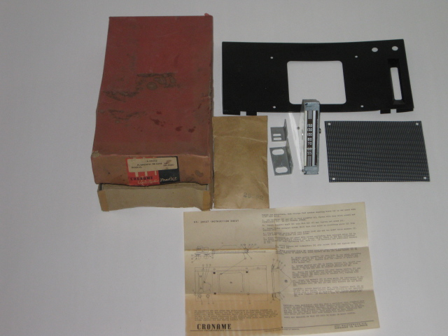 1946 Plymouth Deluxe NEW Croname auto radio panel kit # DR-5520 (zd DR-5520)