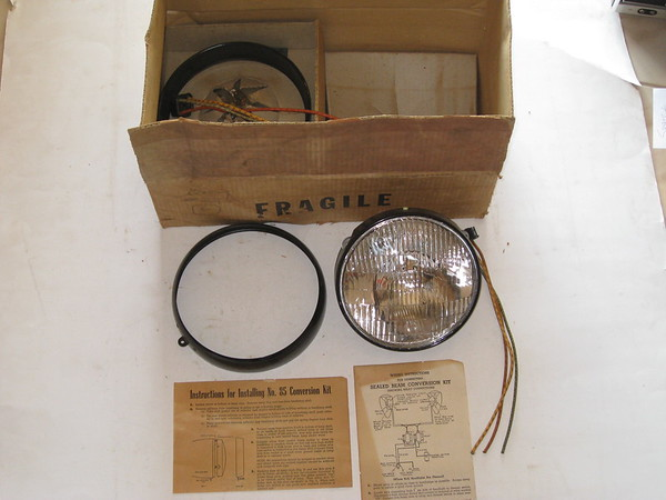 1930's 1940's 1950's new 12 volt sealed beam conversion kit #sb85 (zd sb85)