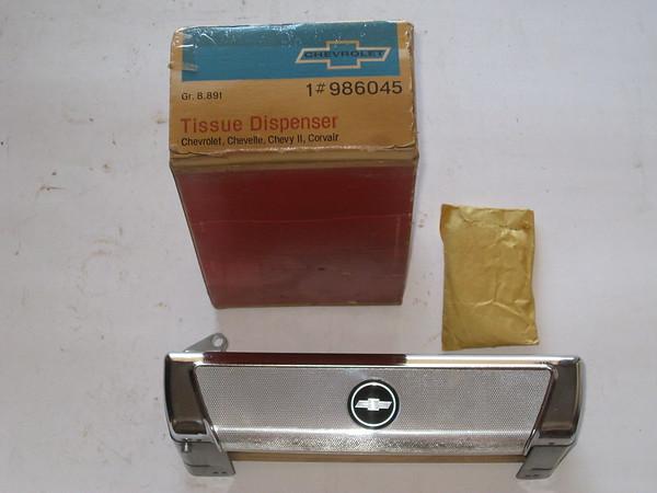 1965 Chevrolet Impala Nova Chevelle Corvair NOS tissue dispenser #986045 (zd 986045)