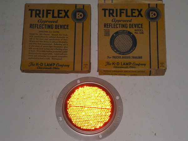 1909 thru 2017 New amber reflectors FM Ford Mopar truck trailer # r326