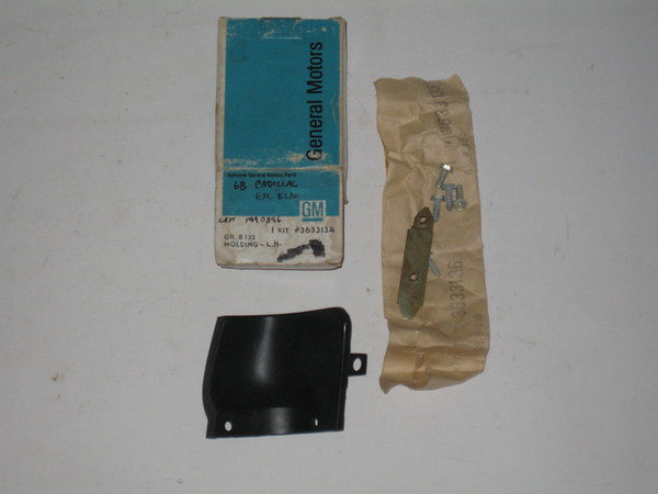 1968 Cadillac NOS header panel extension moulding # 3633134 (zd 3633134)