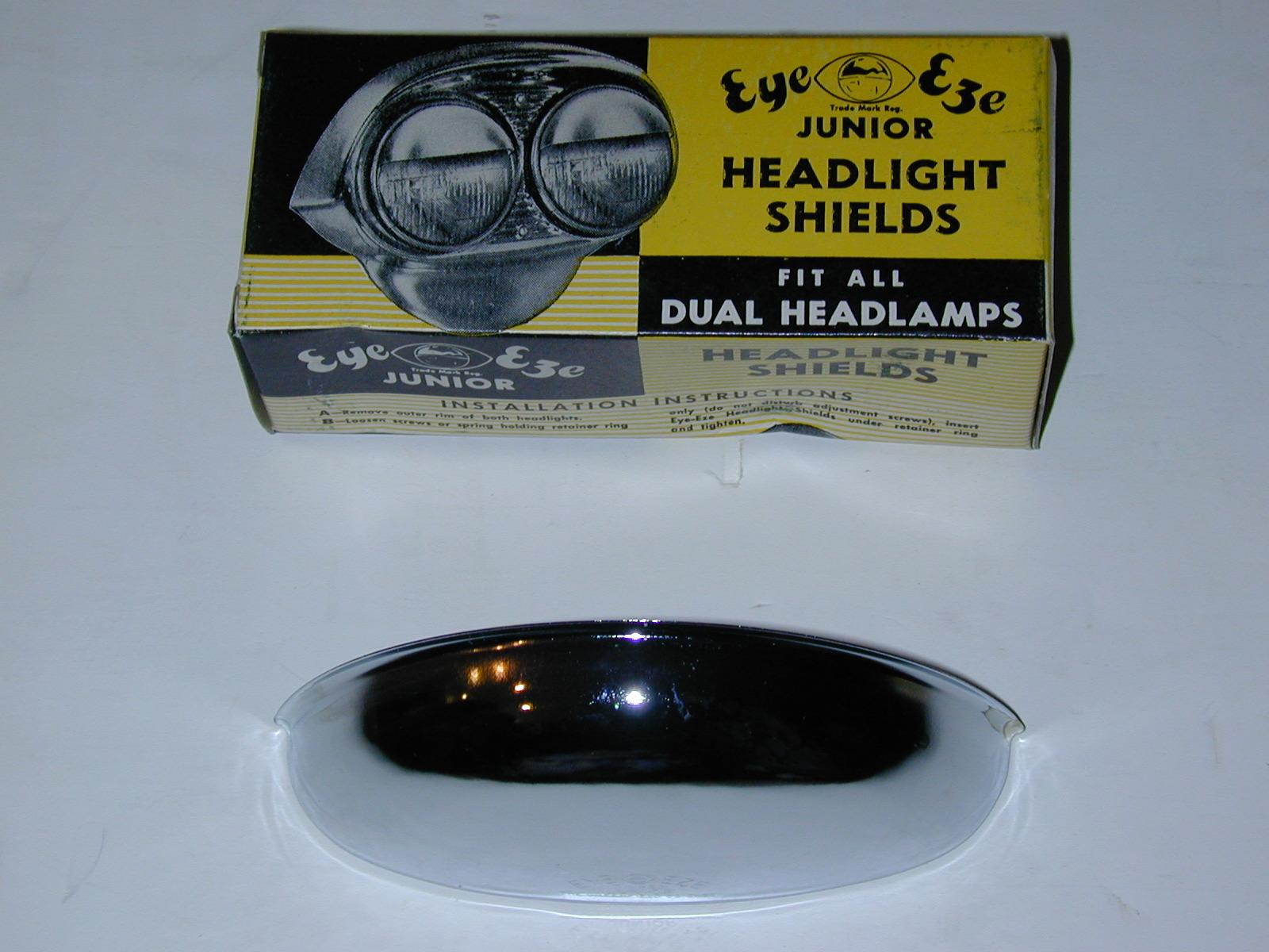 New 1950's mfg headlight eyebrow shields GM Ford Mopar AMC Rat Rod # EZ1 (zd EZ1)