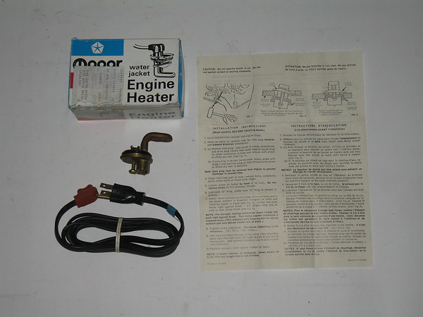 1973 thru 1982 Mopar AMC VW NOS engine heater package mopar # 4094182 (zd 4094182)