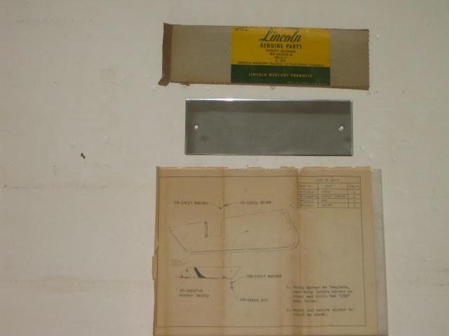1955 1956 Lincoln sun visor vanity mirror NOS Lincoln # BS-18208-B (zd BS-18208-B)