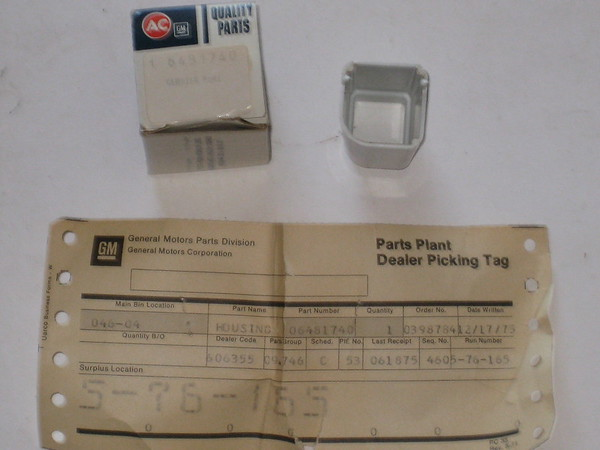 1968 1969 1970 1971 Chevrolet Corvette NOS seat belt lens housing # 6481740 (zd 6481740)