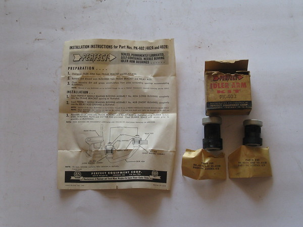 View Product1954 Thru 1960 Ford Edsel Mercury new idler arm repair kit # pk402 (zd pk402)