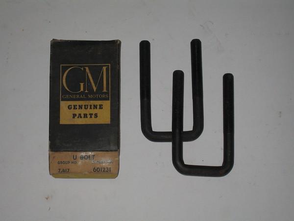 1929 thru 1955 Chevrolet truck NOS front spring u bolt set GM # 601231 (zd 601231)