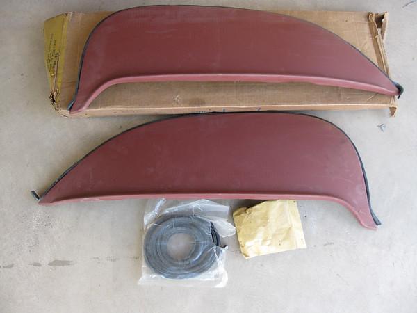 1965 Ford Galaxie NOS foxcraft rear fender skirts # fws-65