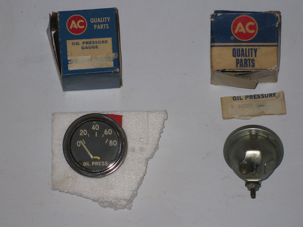 Original military Willys Jeep M38 NOS oil pressure gauge with sending unit # 1507958