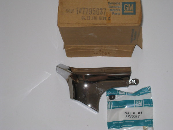 1968 1969 1970 1971 1972 Chevrolet El Camino GMC Sprint NOS LH rear bed corner cap molding # 7795037